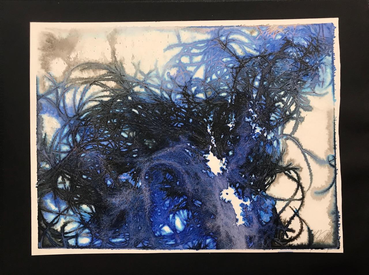 SPARROW HEART - blue #2
