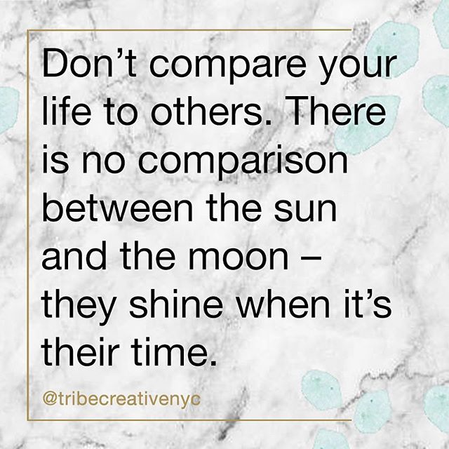 Another person's success or accomplishments should in no way diminish your own. Everyone (regardless of what you may see highlighted on social media) experiences both highs and lows, as well as gains and losses. Remember that we are all in this thing called life together, so let's champion each other instead of comparing. #mondaymotivation #empoweredtribe