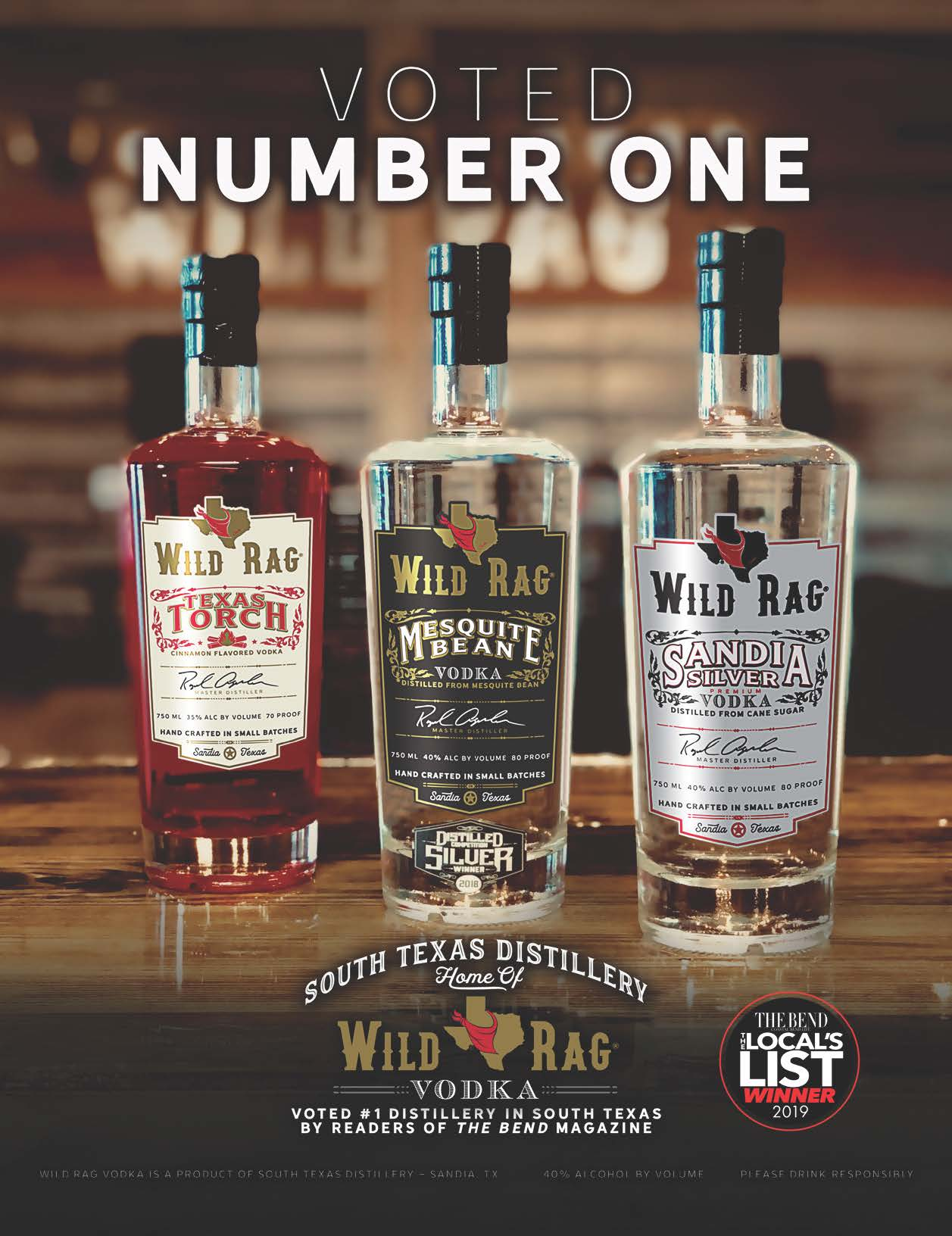 VOTED NUMBER ONE! - On the 3rd Anniversary of Wild Rag Vodka, there's a lot to celebrate this July! The Coastal Bend has chosen Wild Rag Vodka! Plus, here's a sneak peak of the 2019 Wild Rag Vodka Collection soon to be released.The Bend Magazine