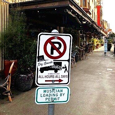 Musician Loading Zones (pictured at McMenamins Al's Den)  Photo: Vortex Music Magazine