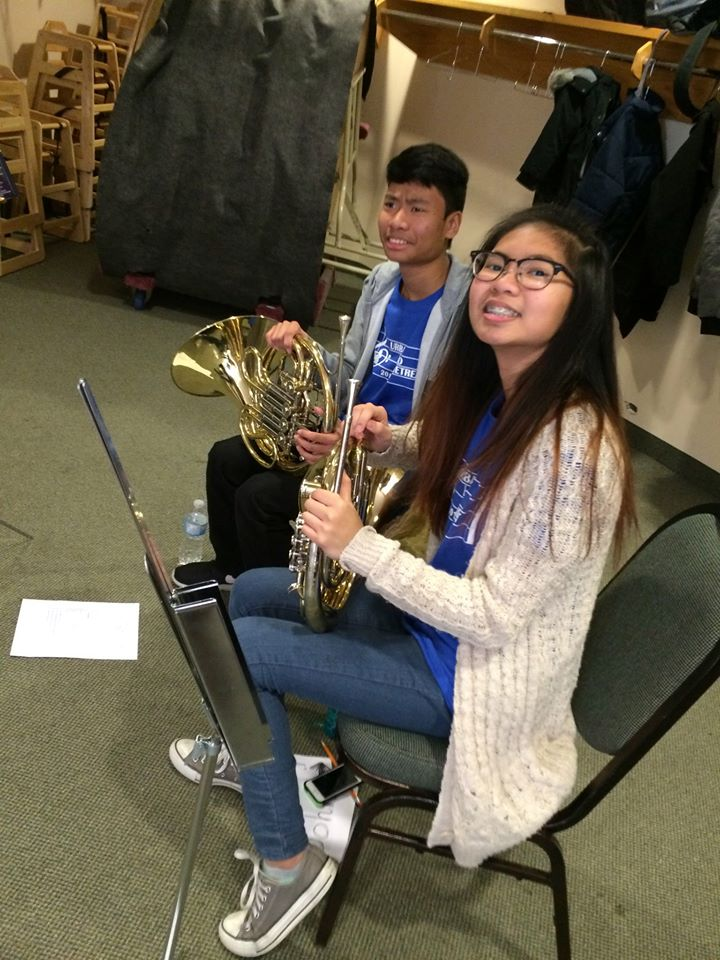 Grade 10 Urban Band Retreat 2015  Gotta love the Horn Section. Nice face John... someone must have just emptied a spit valve!