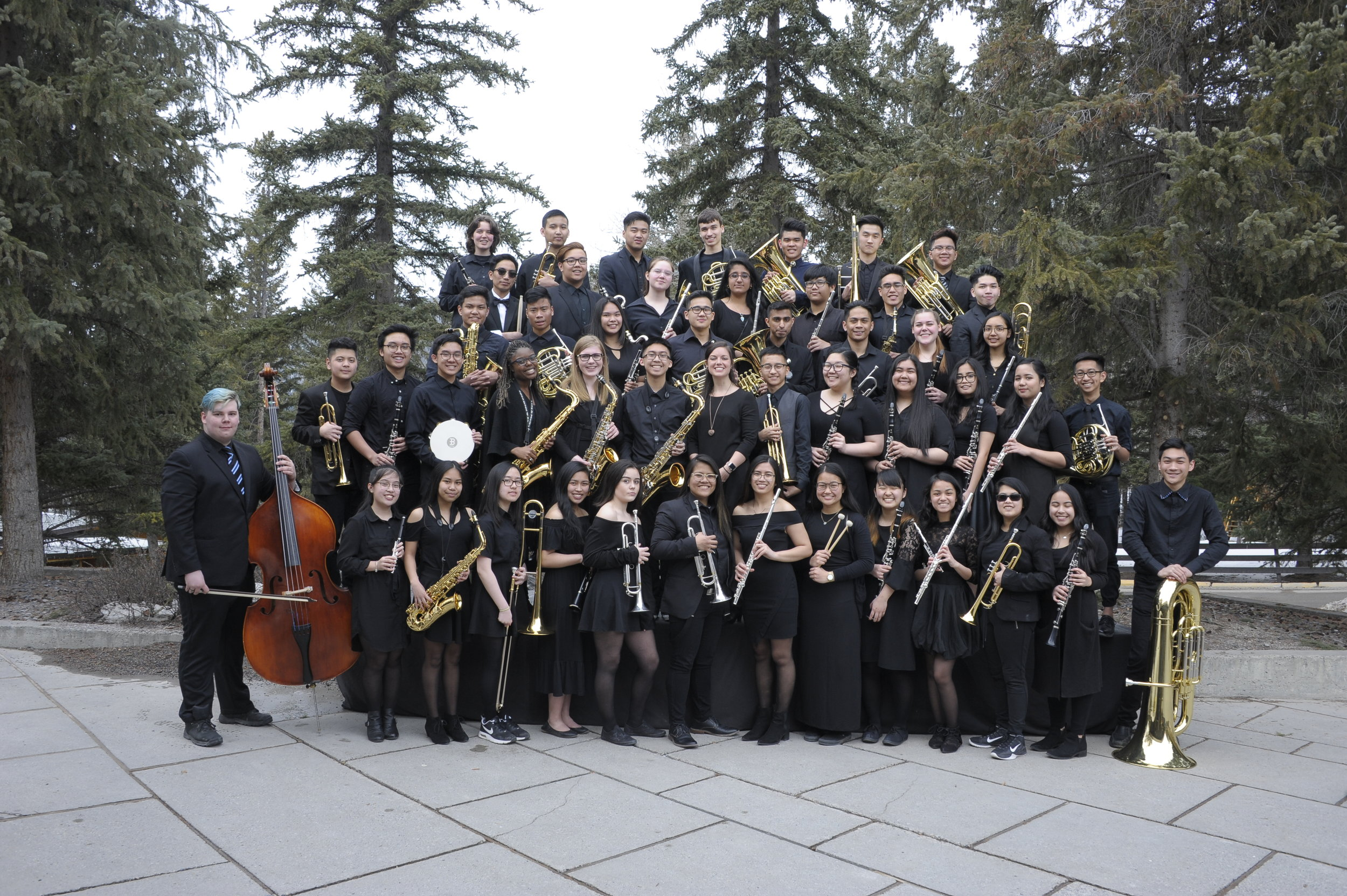 Wind Ensemble in Banff 2018. Very first Wind Ensemble Performance outside of Winnipeg!!