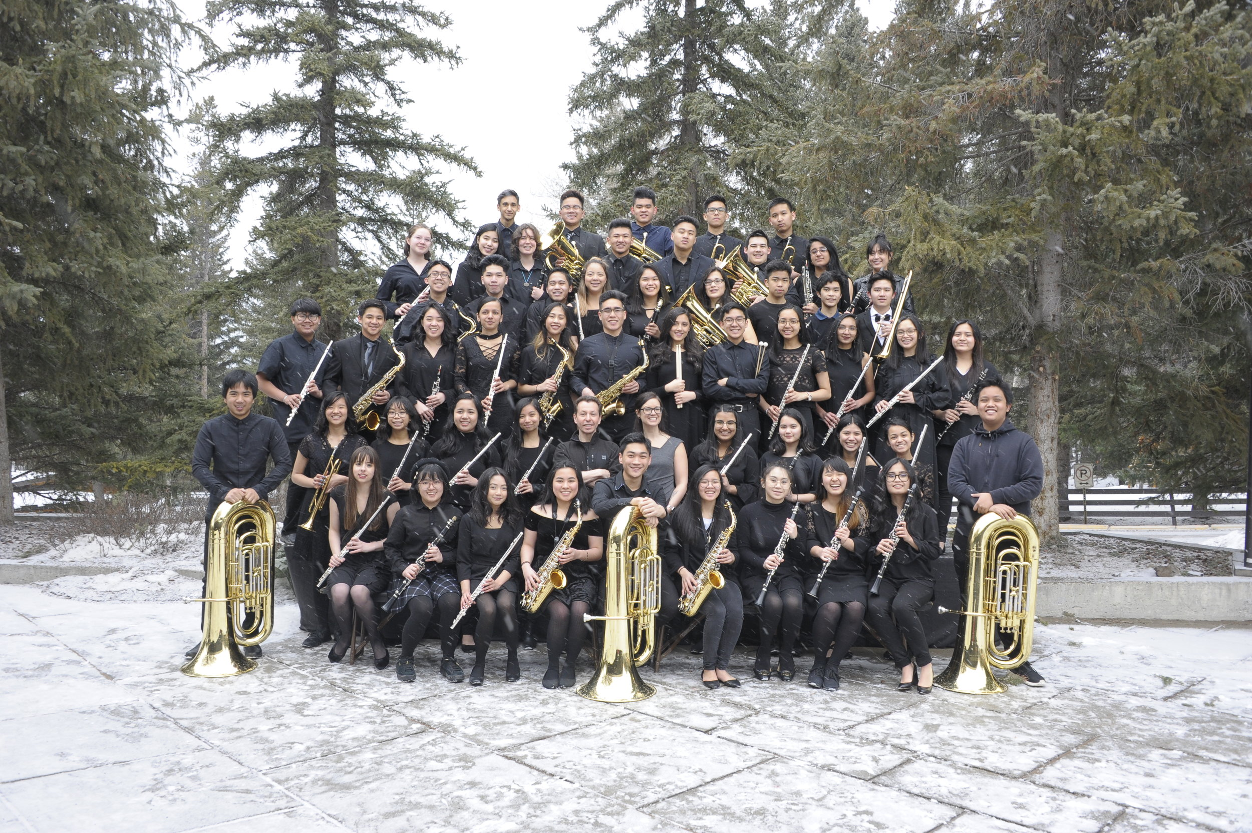 Grade 11 Concert Band in Banff, 2018