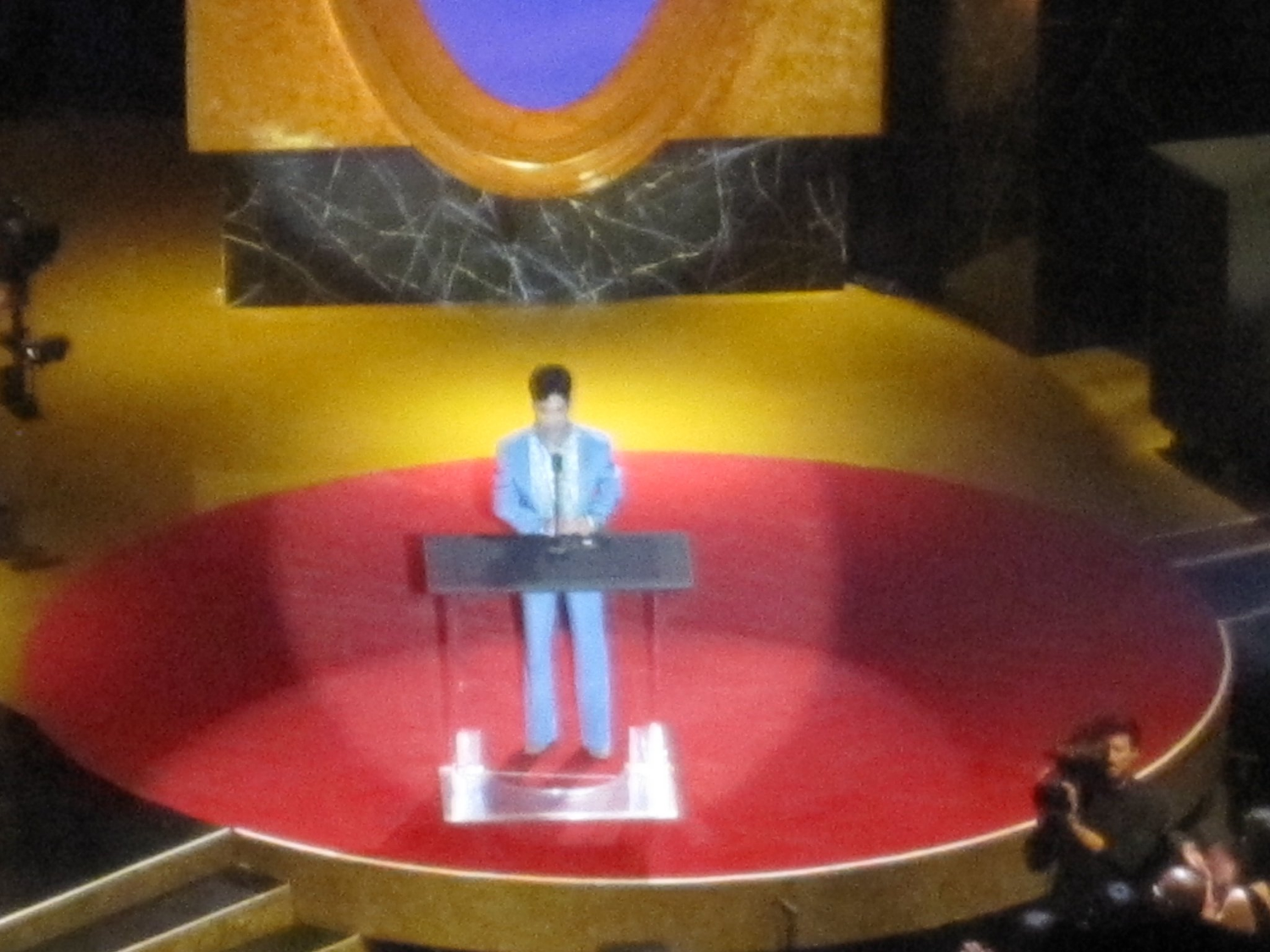 Prince presenting at the 2011 NAACP Image Awards. I really tested my camera's zoom capabilities for this one, but hey, IT'S PRINCE.