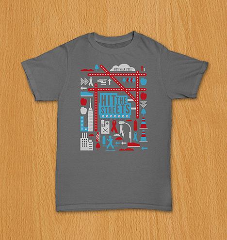The Viacom Aids Walk t-shirt won Gold at The Broadcast Design Awards (BDA).