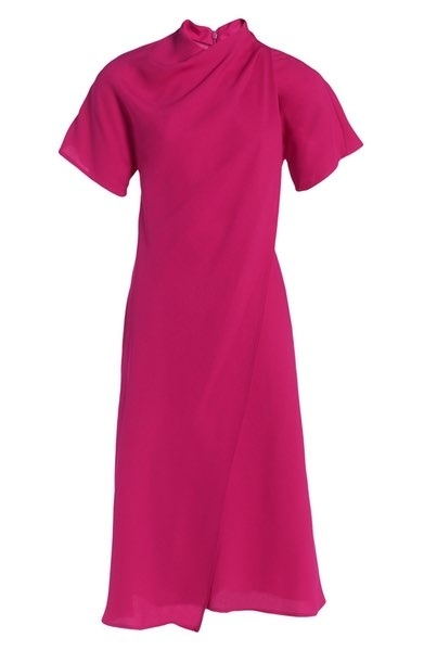 Topshop Origami Drape Neck Midi Dress