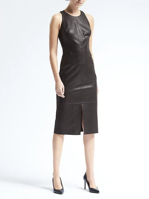 Sleeveless Leather Midi