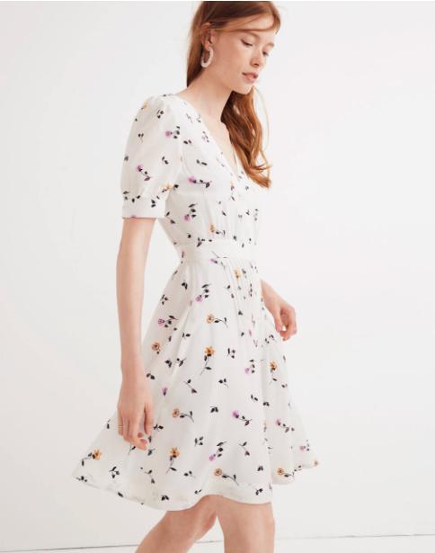 Madewell pintuck dress