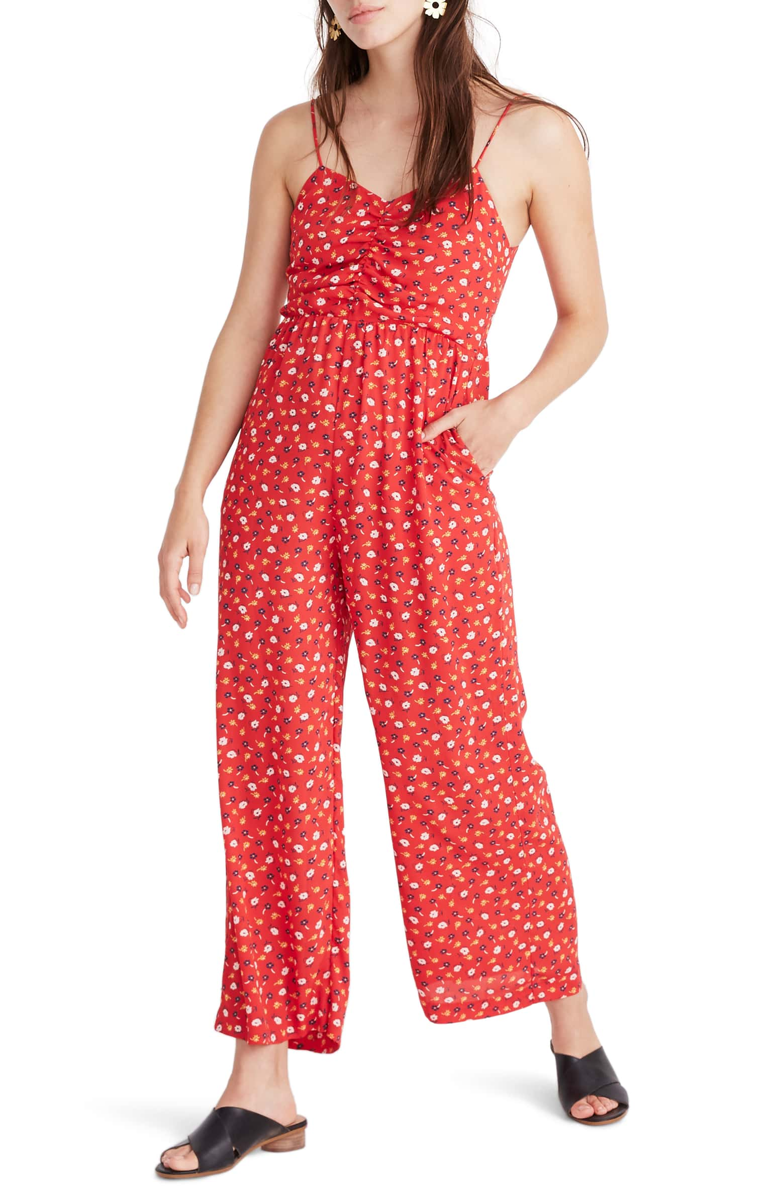 Ruched jumpsuit $99.99 (30% off)