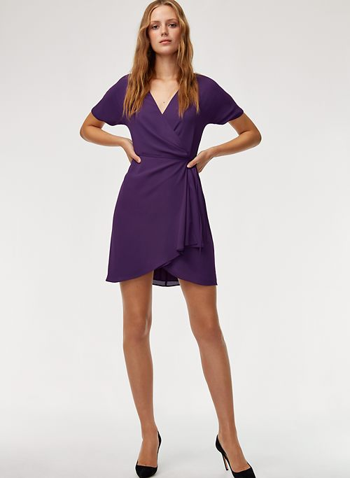 Babaton Wallace Dress Short-sleeve wrap dress $98