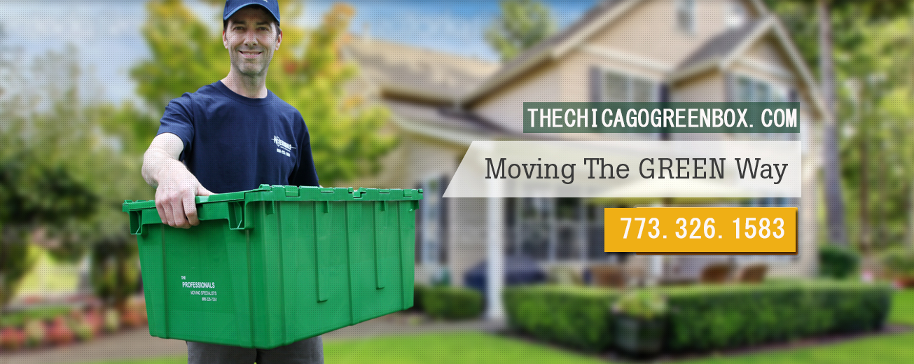 Chicgao GreenBox Facebook Cover image - moving green with Chicago GreenBox