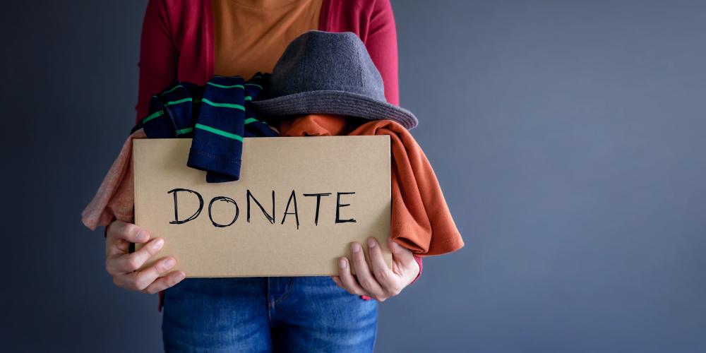 clothes donation box