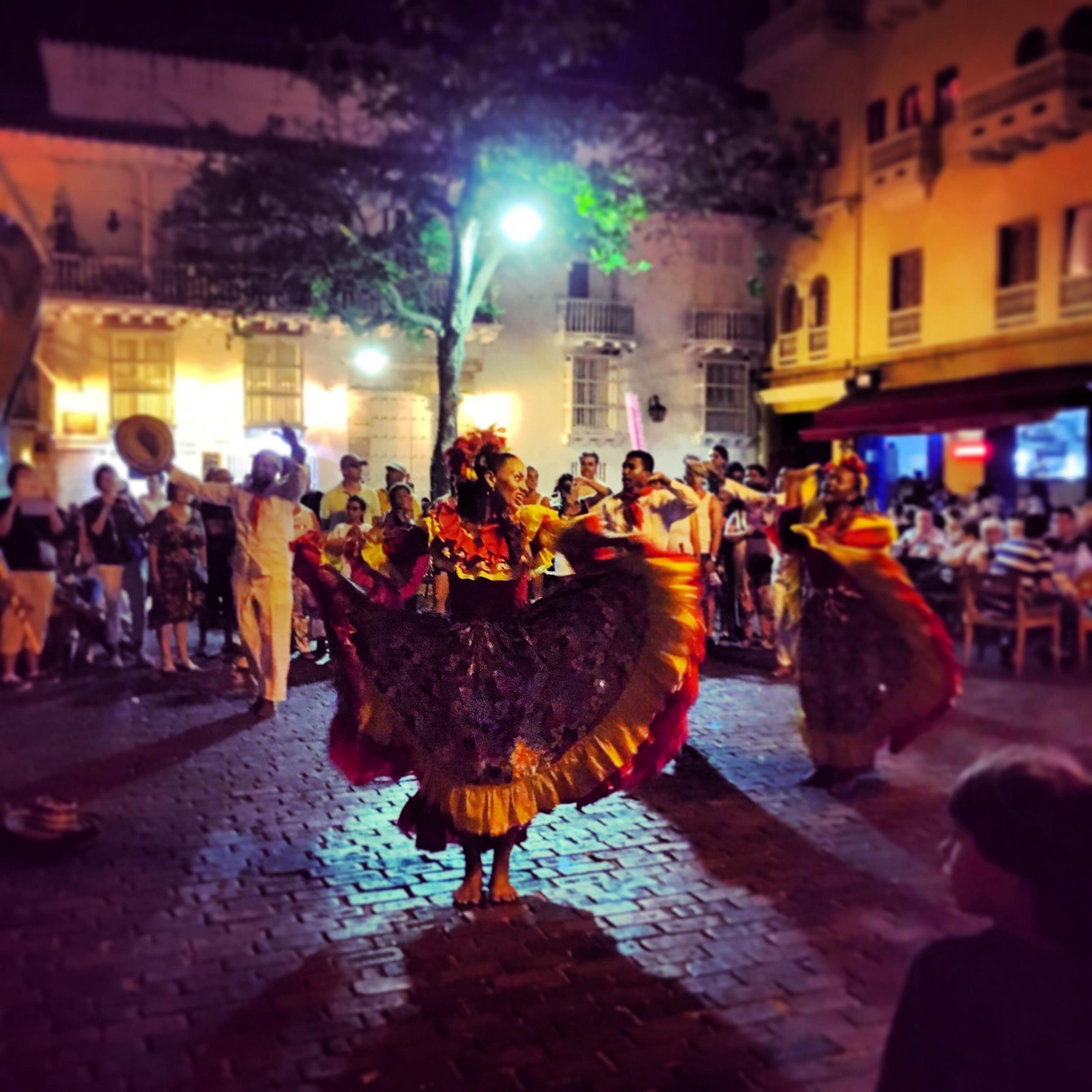 Cartagena Night Life in the Plazas