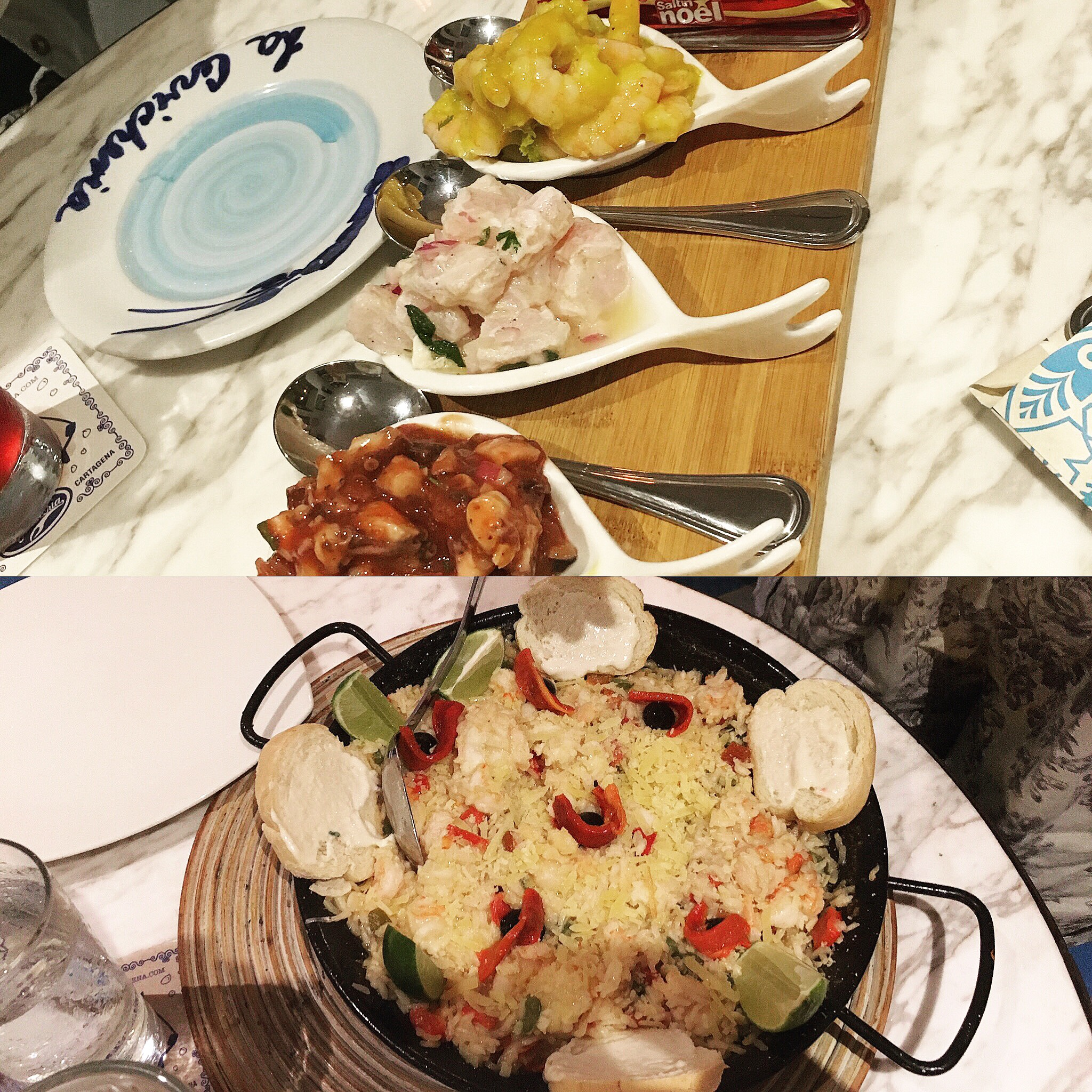 Ceviche and Lobster Paella at La Cevicheria