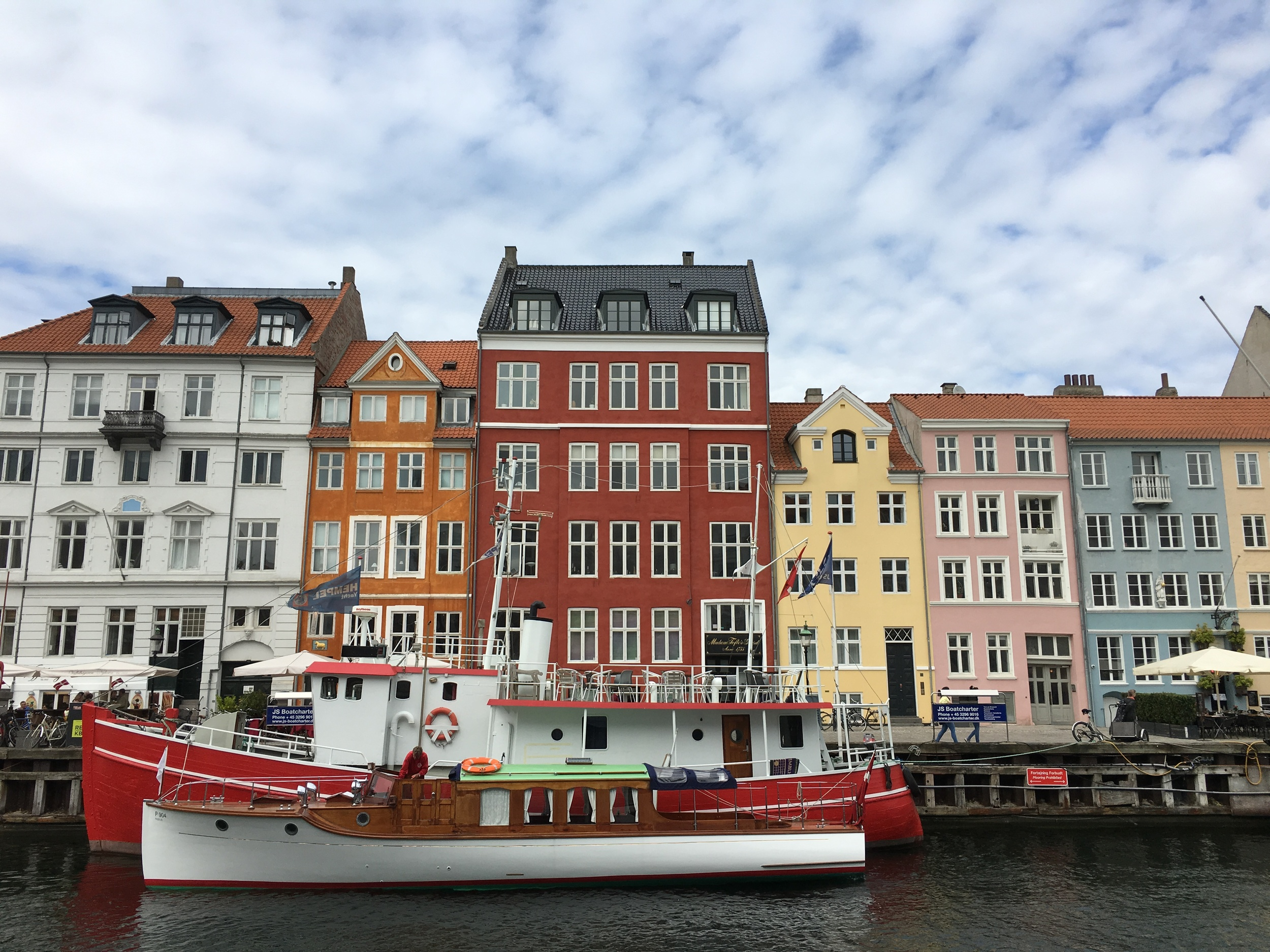 Colorful homes all along the canal in Nyhavn
