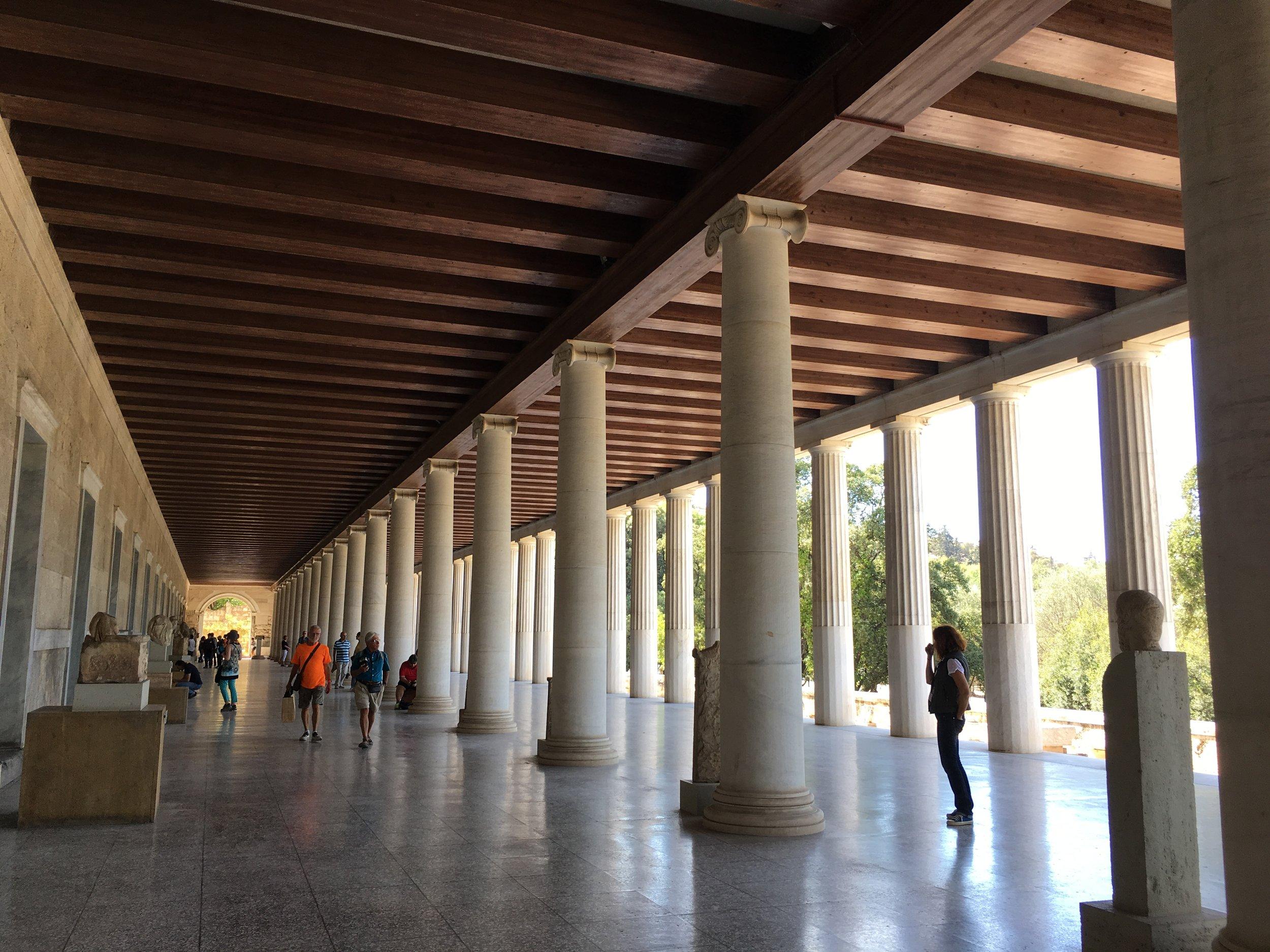 Where democracy thrived, at Ancient Agora of Athens