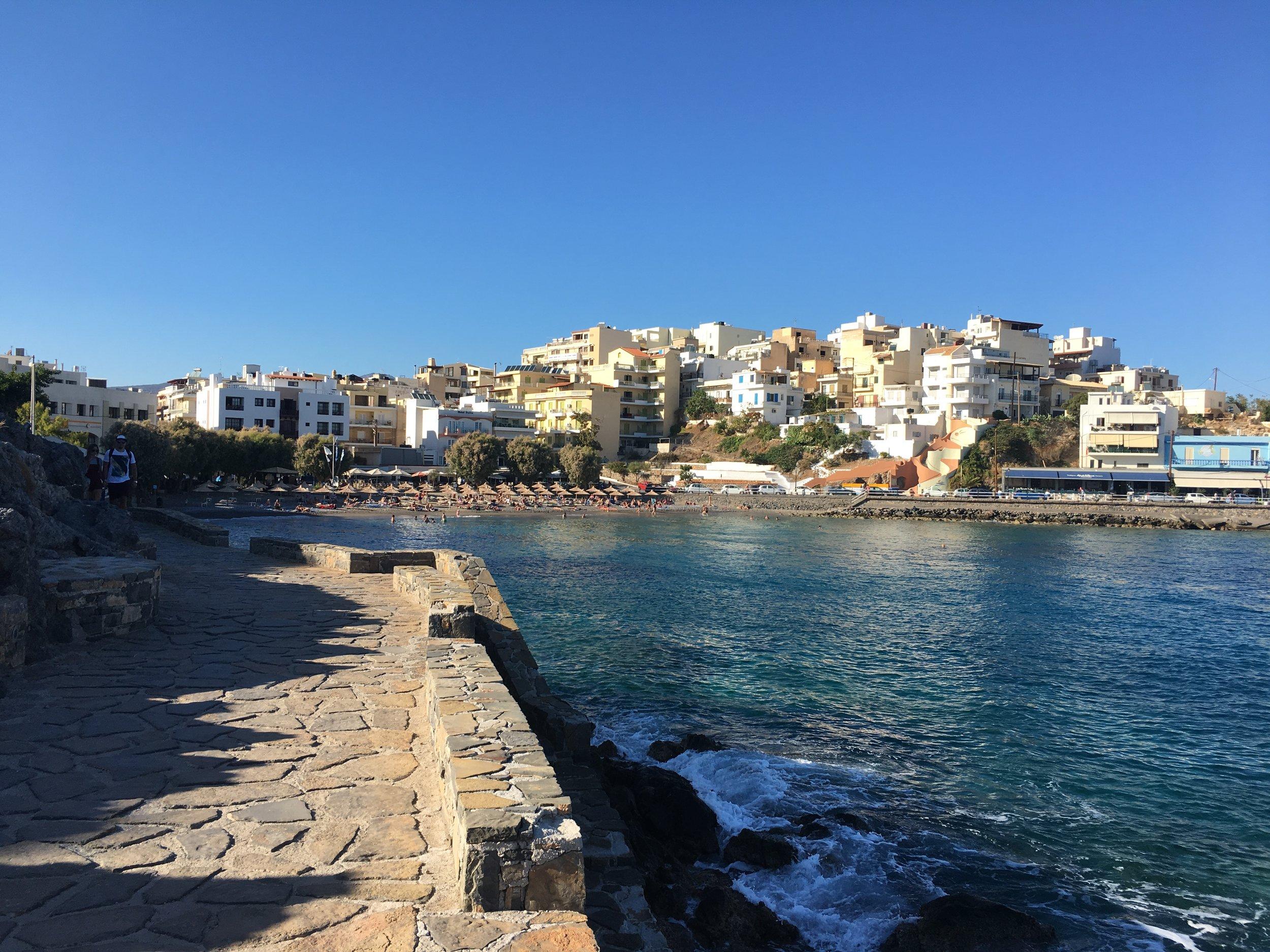 One of the beaches in Agios Nikolaus