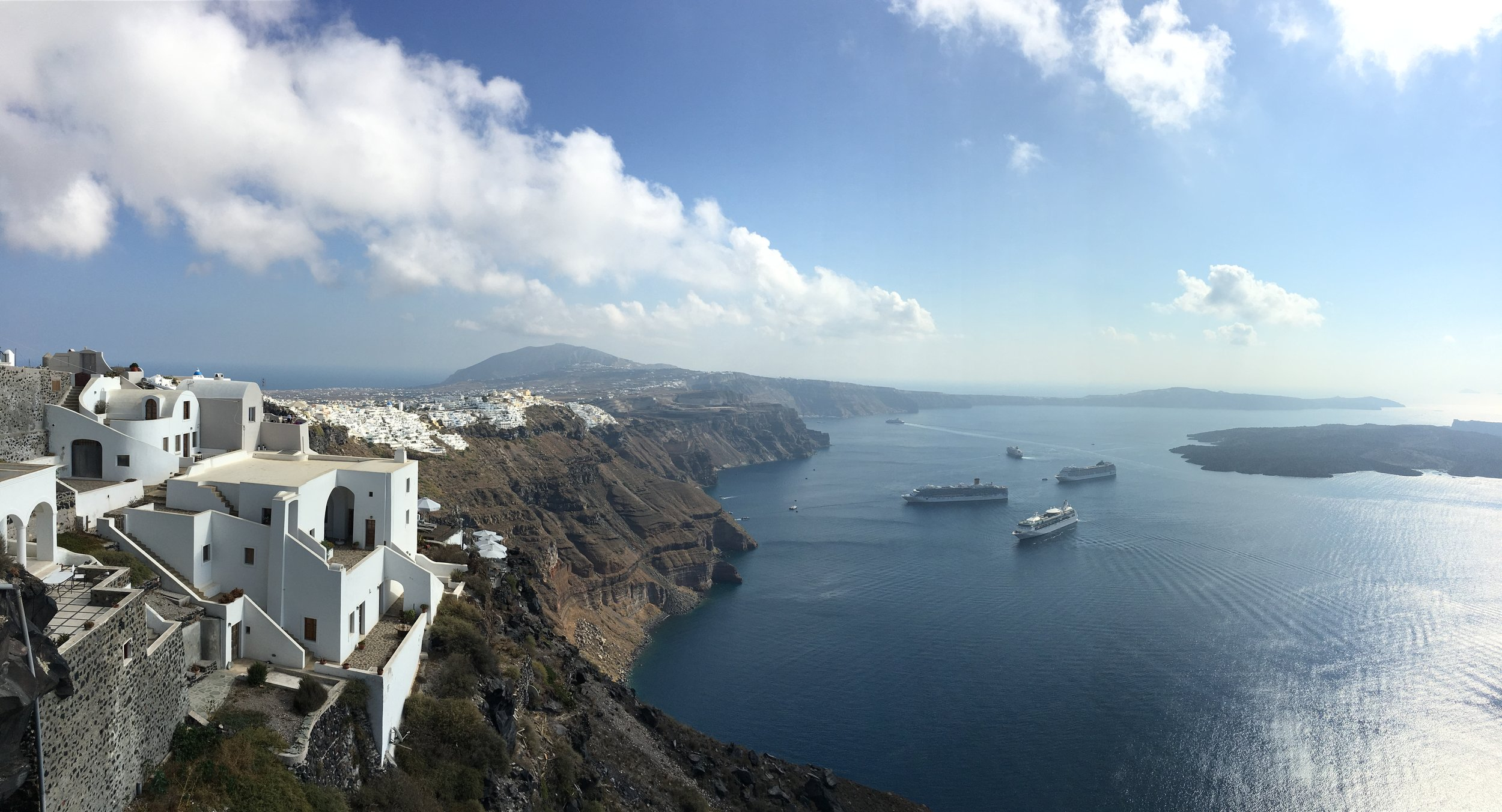 Fira from afar (really took my breath away in person)
