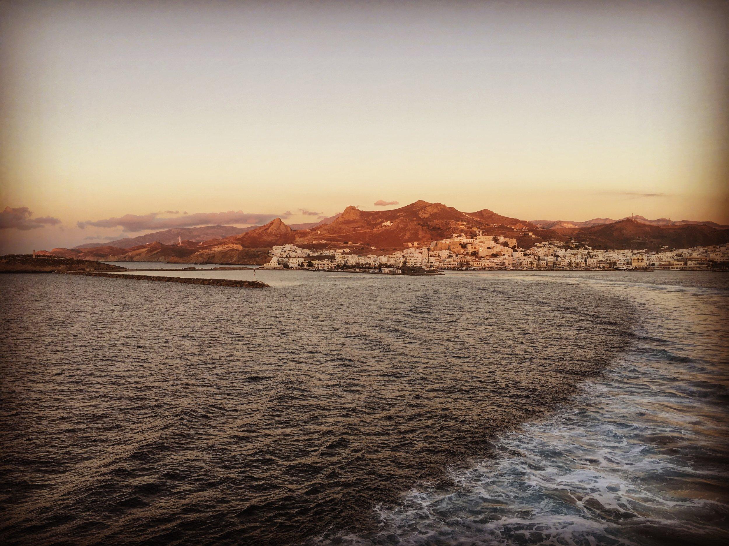 Zooming away towards Paros