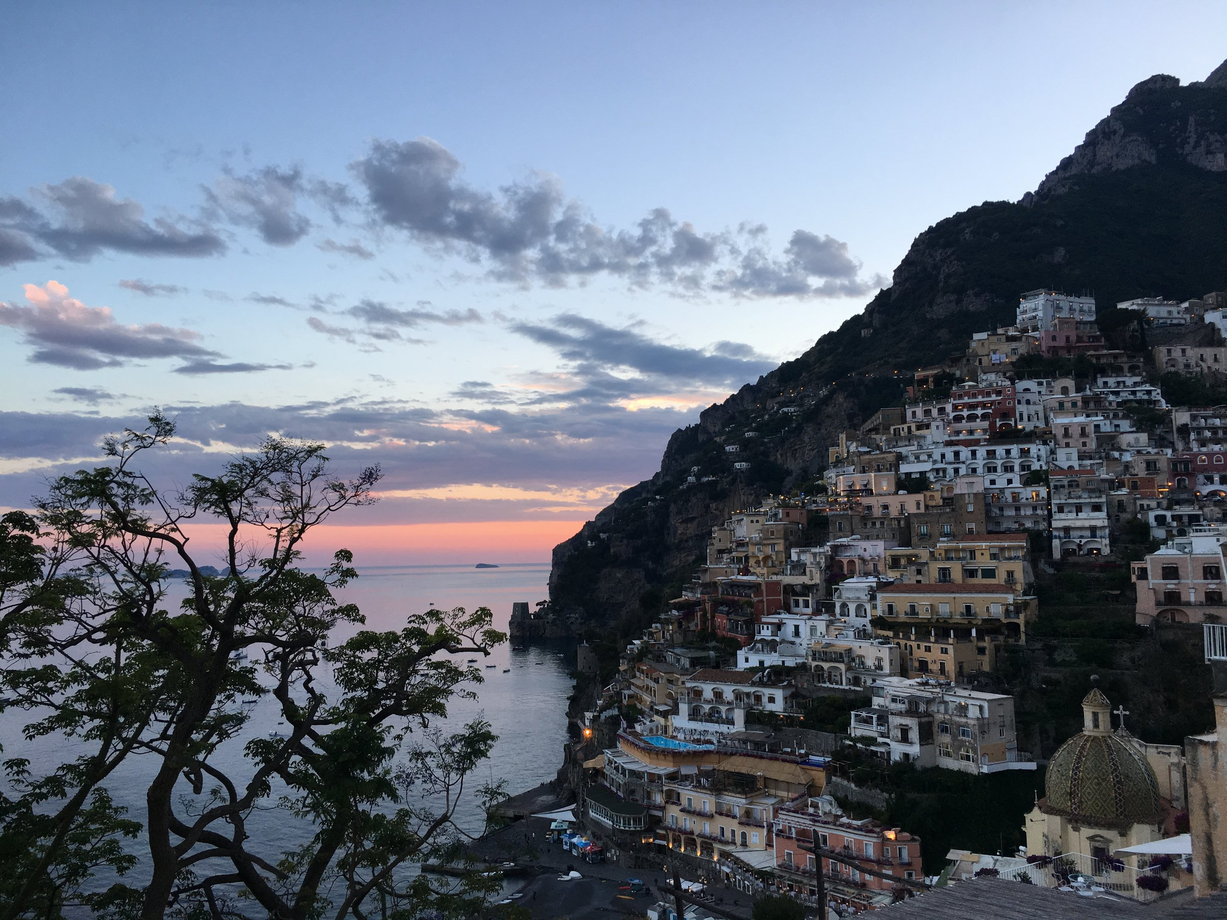 Sunset time Positano