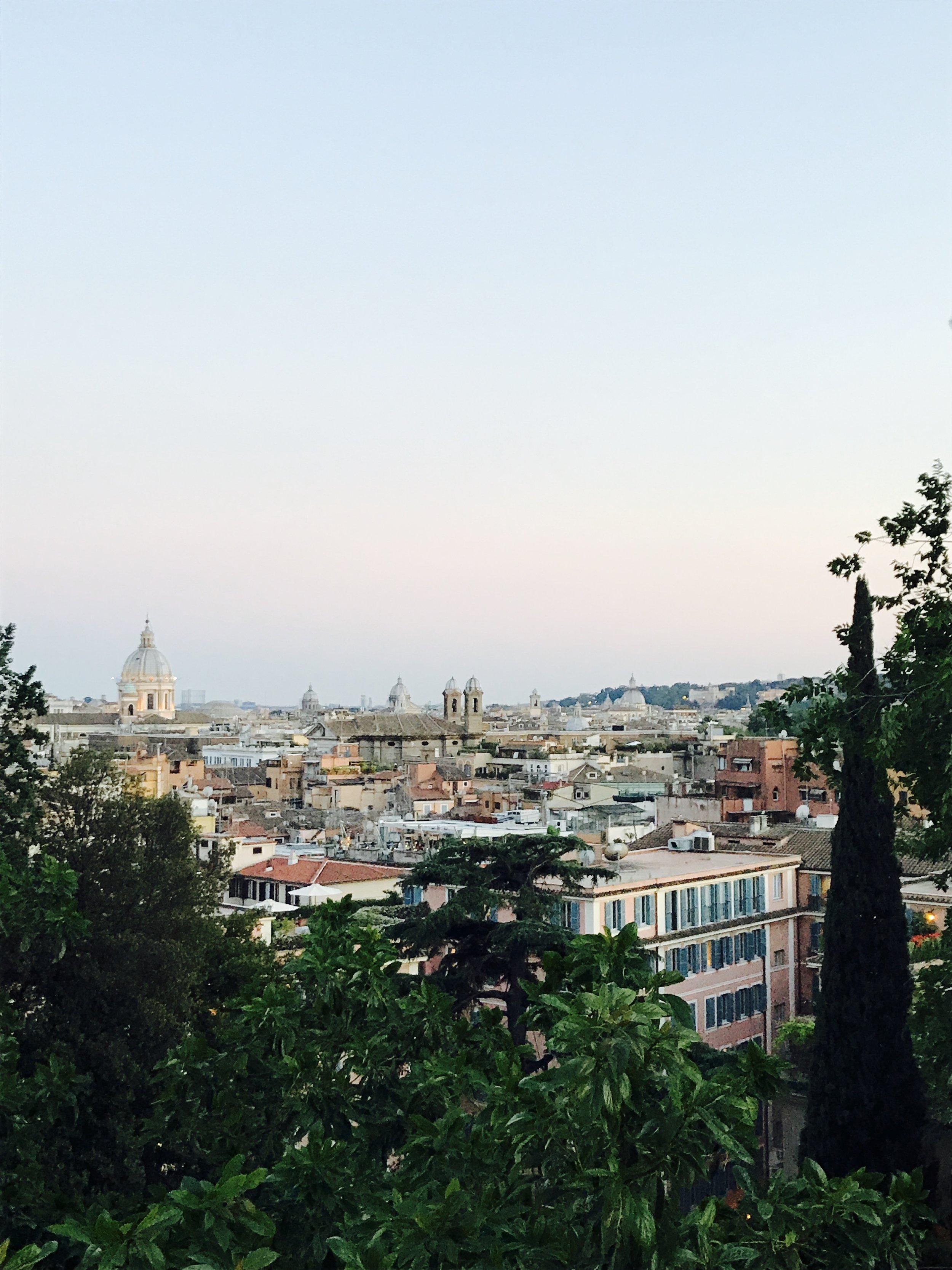 Scenic view near the edge of Villa Borghese