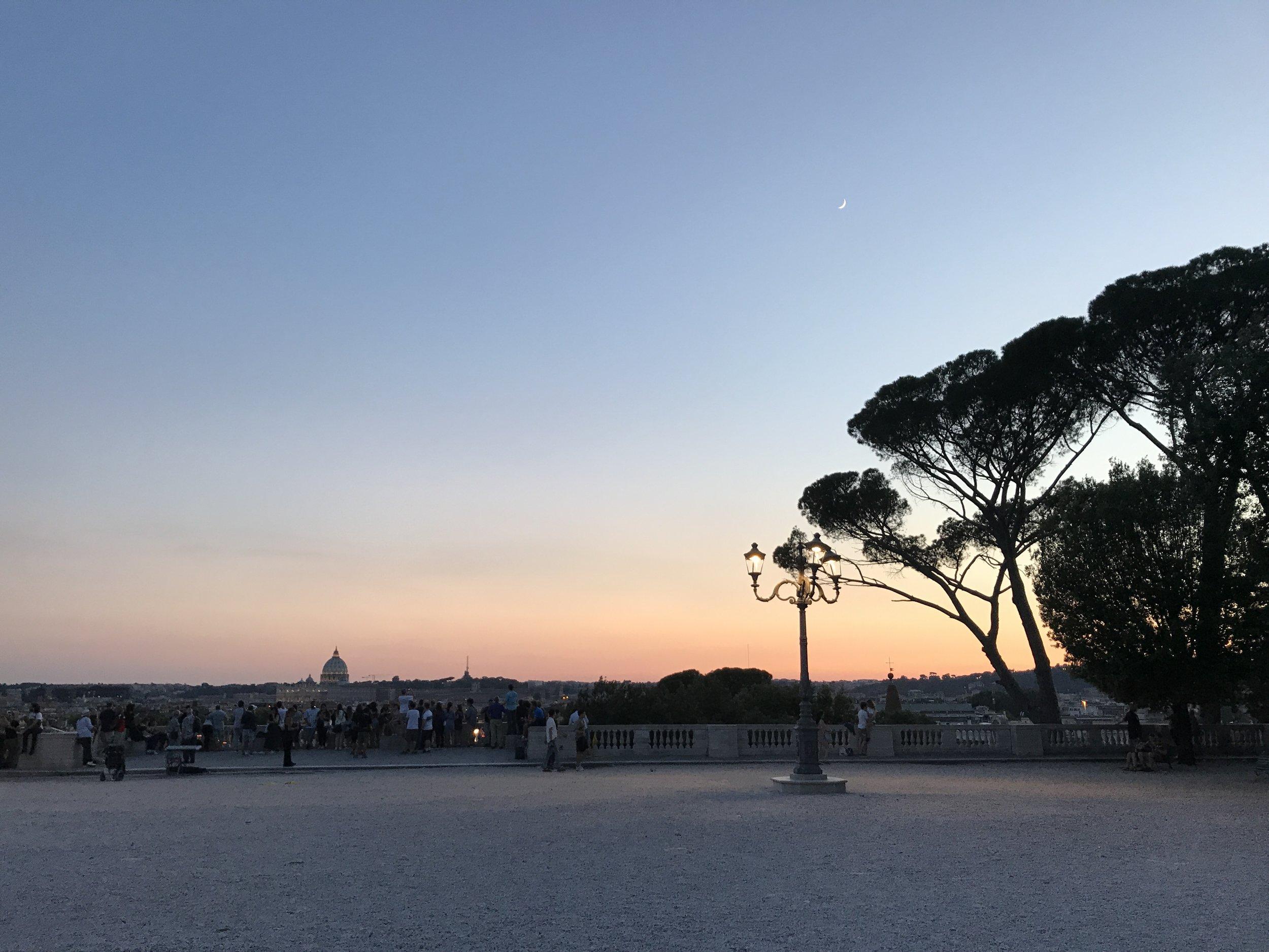 Tourists at Twilight