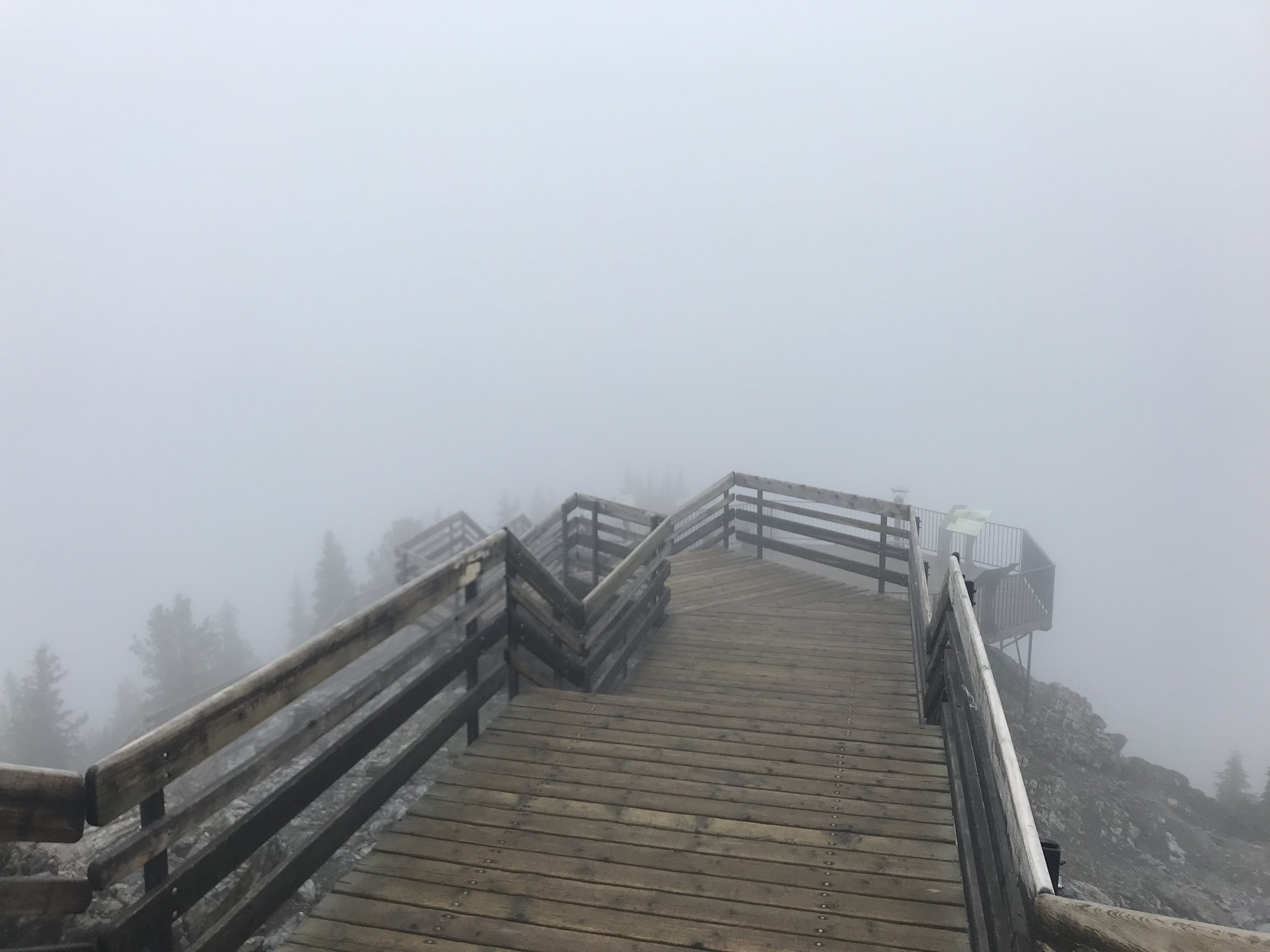 Boardwalking in the clouds
