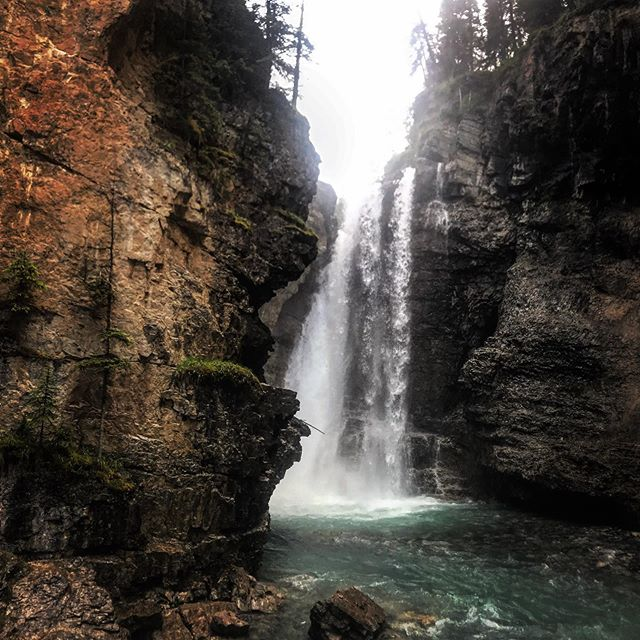 The hike up to the Upper Falls at Johnson Canyon Banff National Park is a delightful walk along the raging river. About an hour and change from the parking lot; its a little steep past the Lower Falls but manageable #banff #hiking #johnsoncanyon #waterfalls #instatravel #tripadvisor #nature #canada #travelblogging