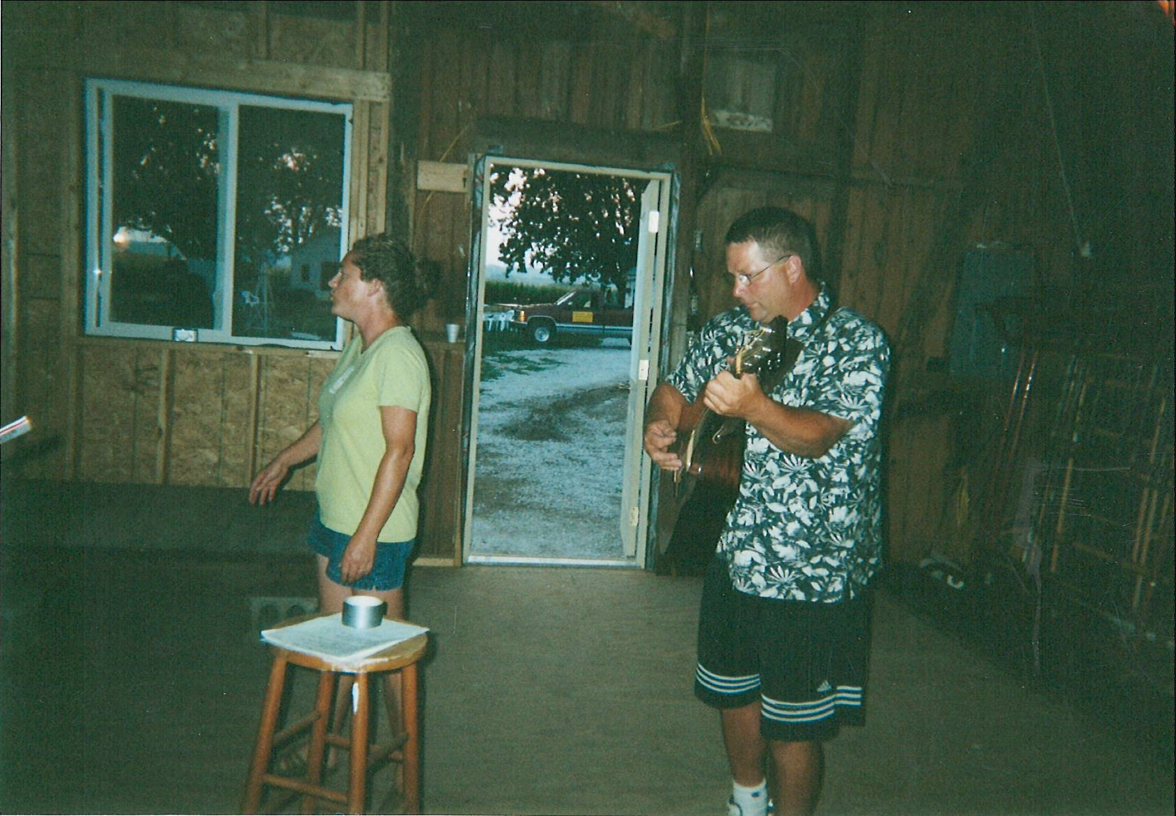 Mike Crippen, a master of the hammer and guitar. He spent many hours at Bethany Farm on the barn and other projects.