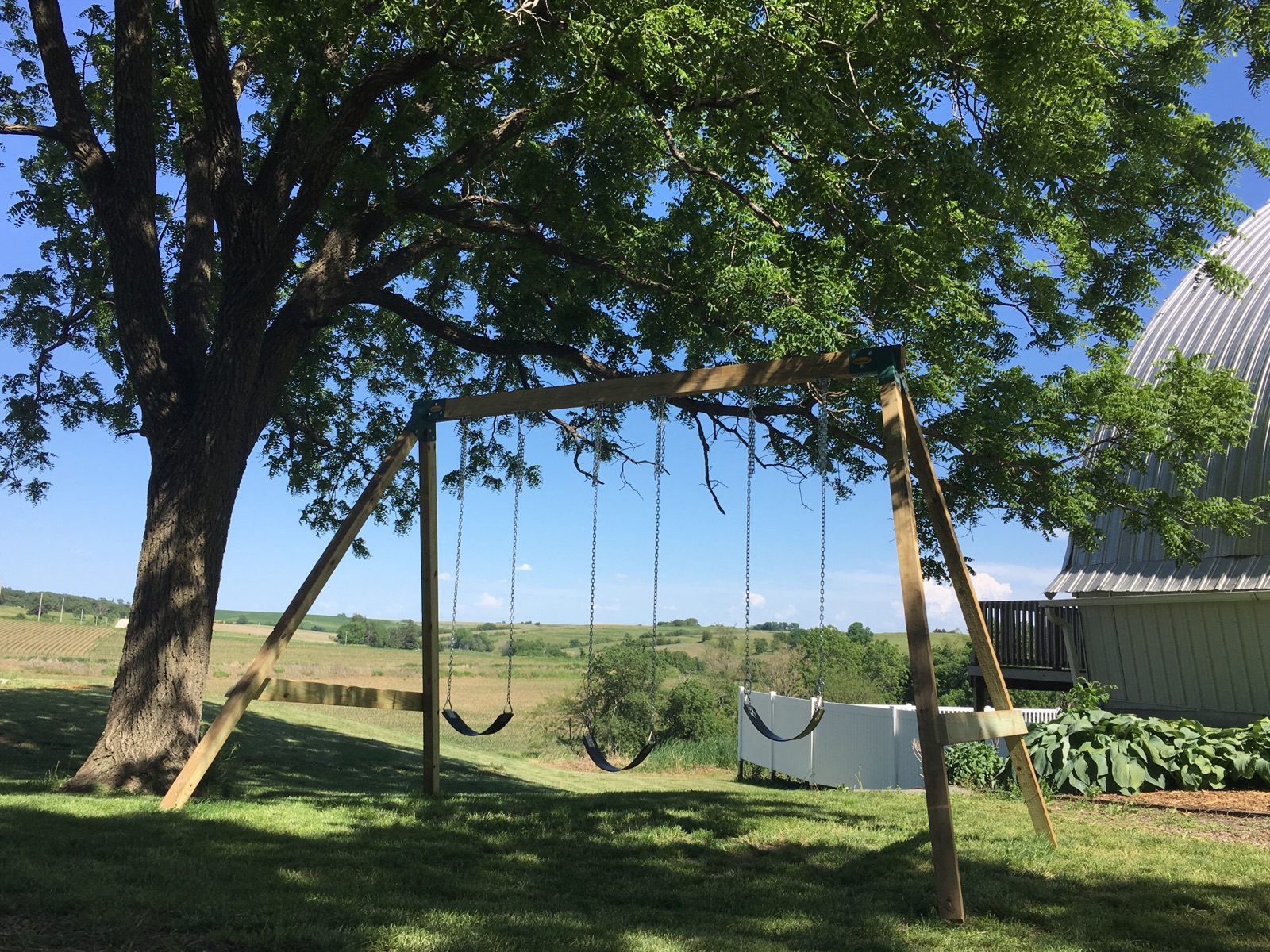 If we built a giant swing... why not three more small ones?!?