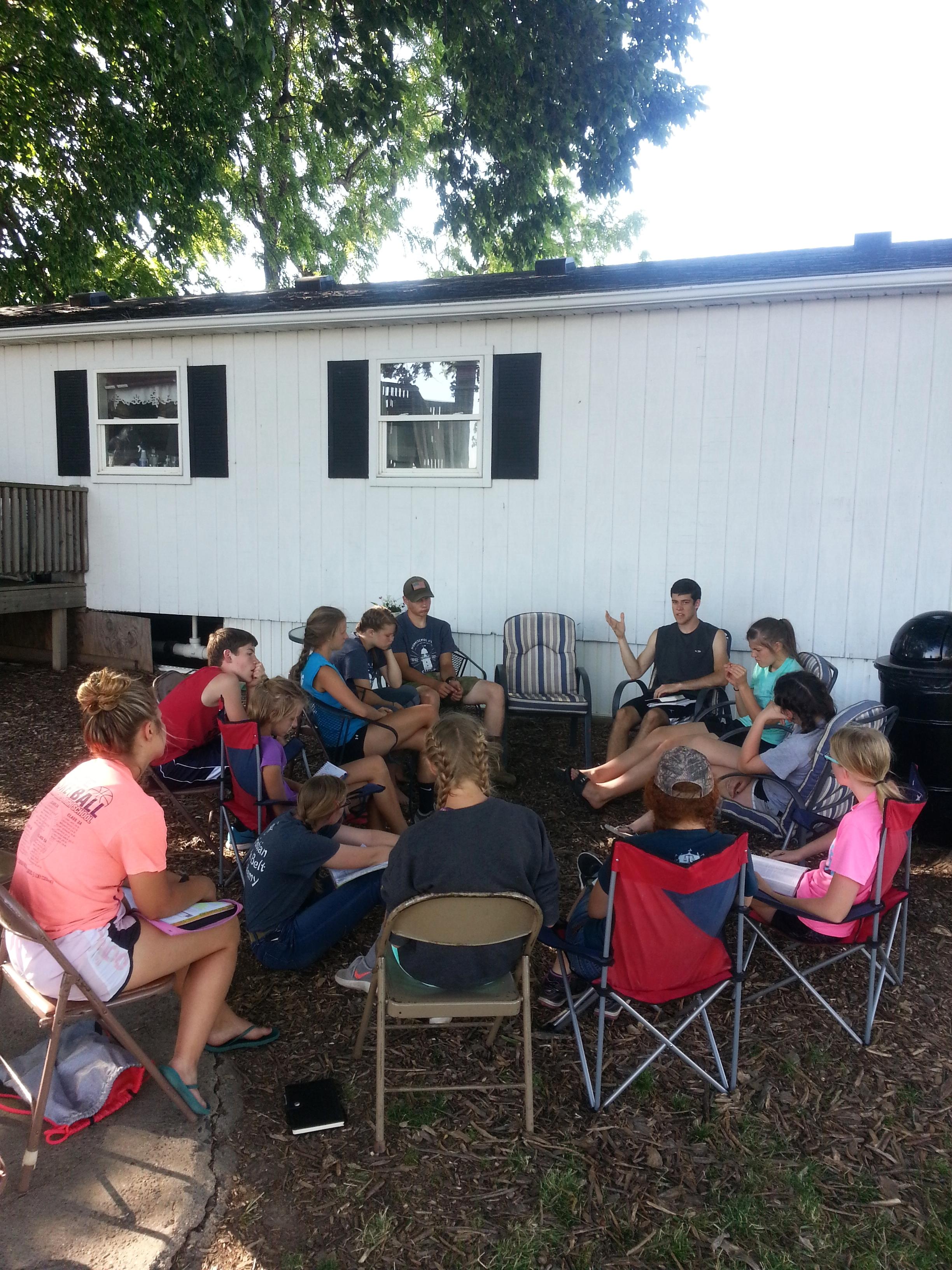 Voluntary outdoors study on Hebrews 11.
