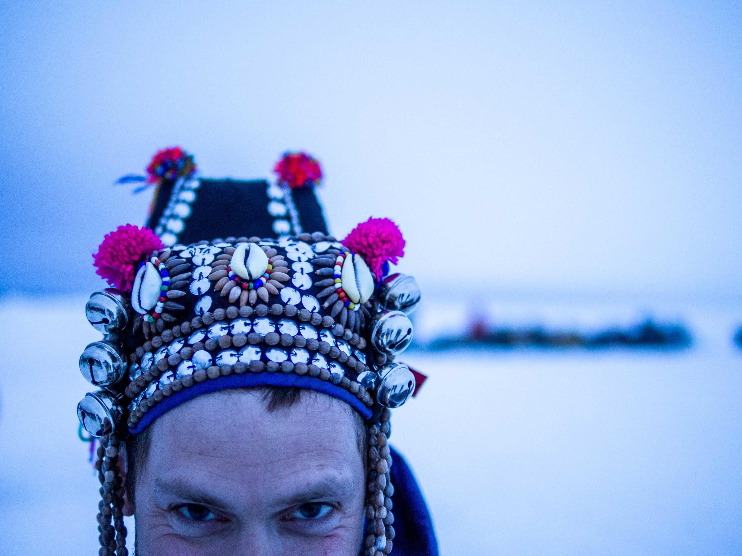 No surprise that Alex procured this hat at  Piviniit . Photo by Anubha.