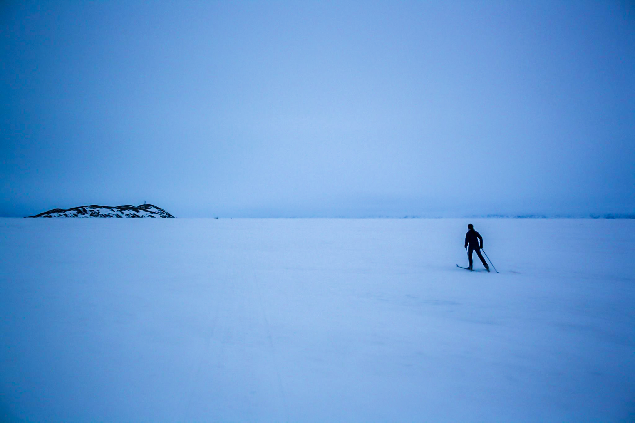 Skiing to the yurt. Photo by Sean Doherty.
