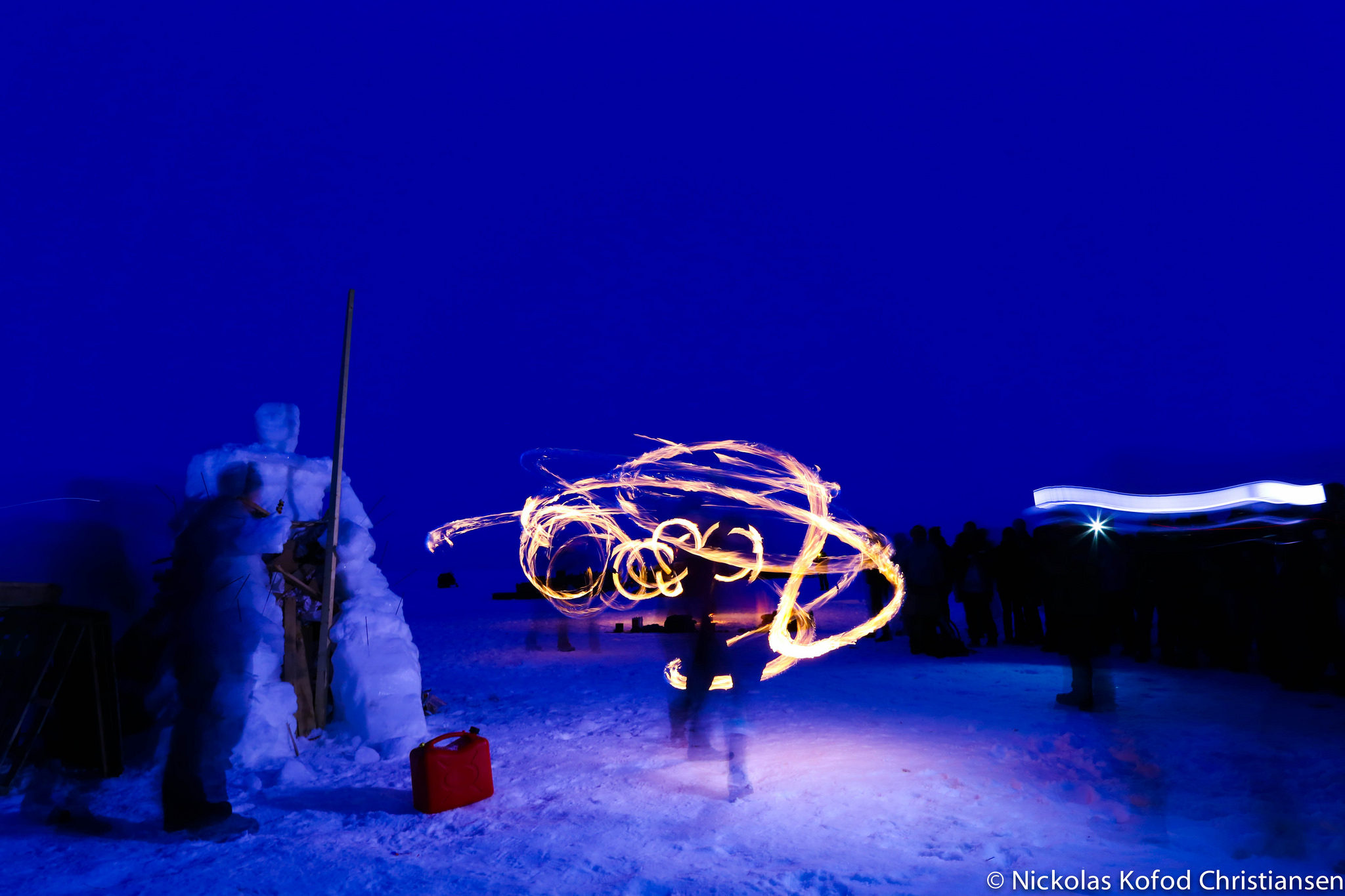 Fire dancers. Photo by  Nickolas Kofod .