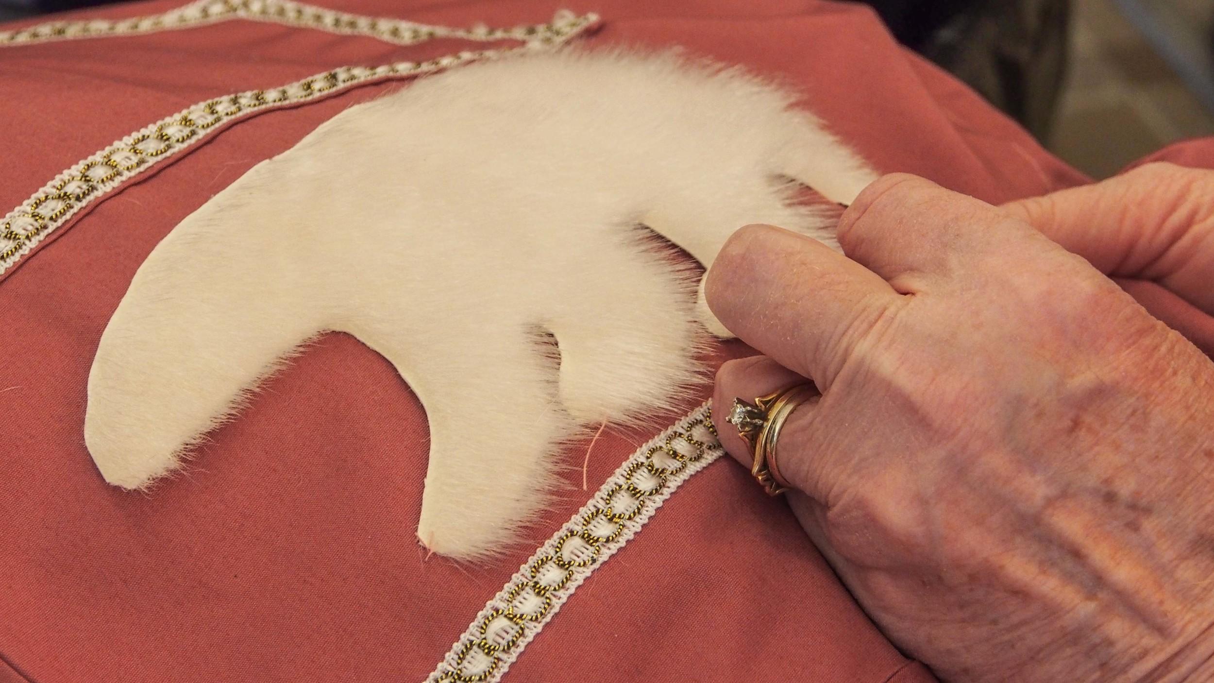 Millie's sealskin polar bear appliqué.
