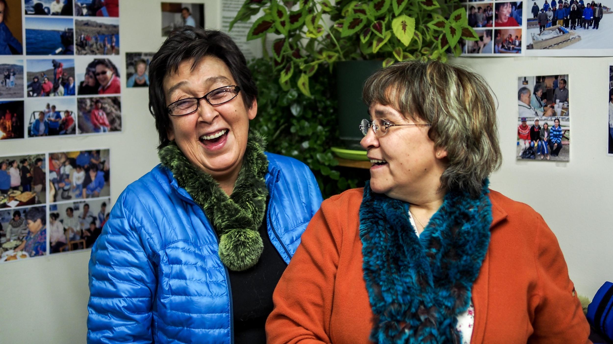 Iqaluit parka course instructors.