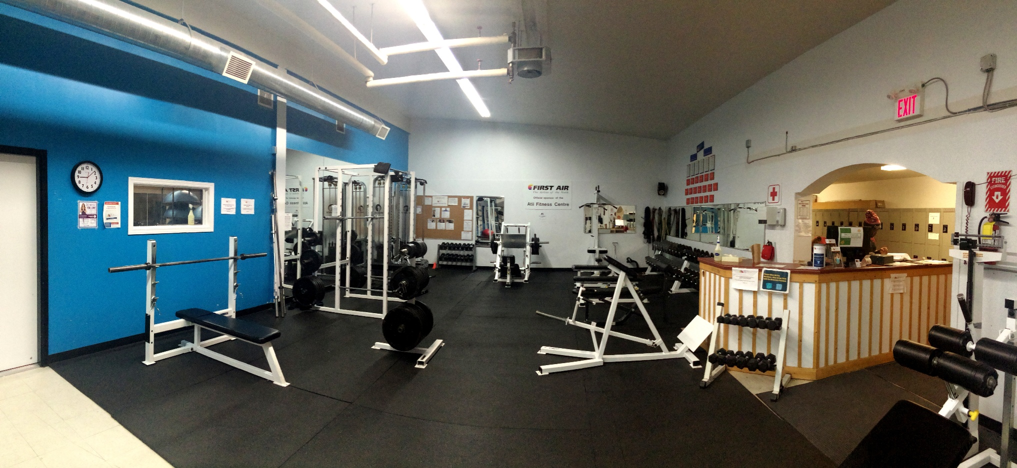 The weight section at Atii Fitness Centre in Iqaluit.