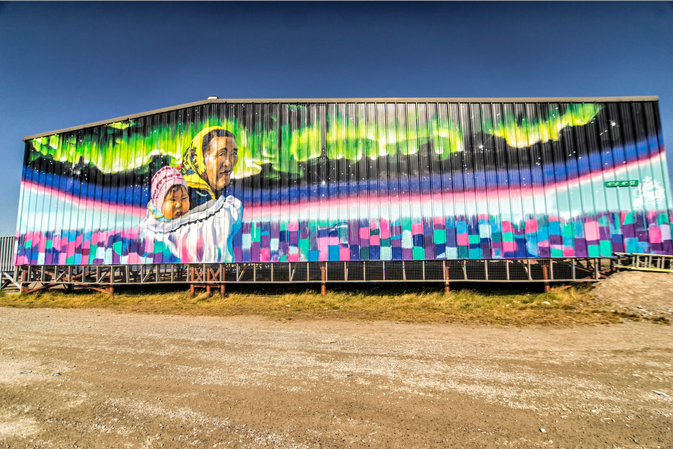 Mural on John Ollie Complex. https://www.flickr.com/photos/canadianson/14857922889/player/