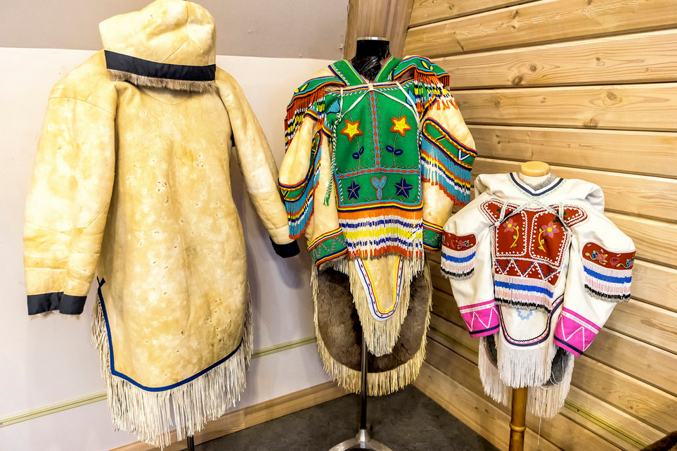 Margaret Aniksak Visitor's Centre, Clothing Display https://www.flickr.com/photos/canadianson/15056055305/player/