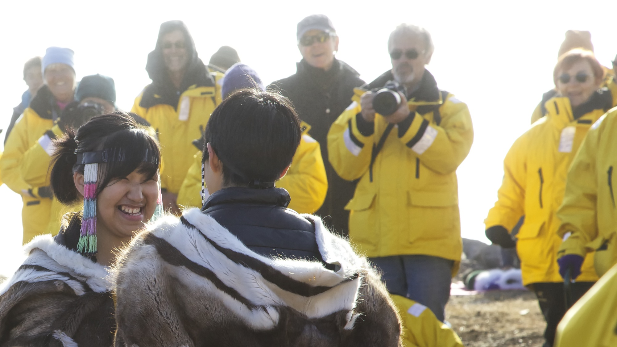 Throat singers and tourists. Photo by Clare Kines,
