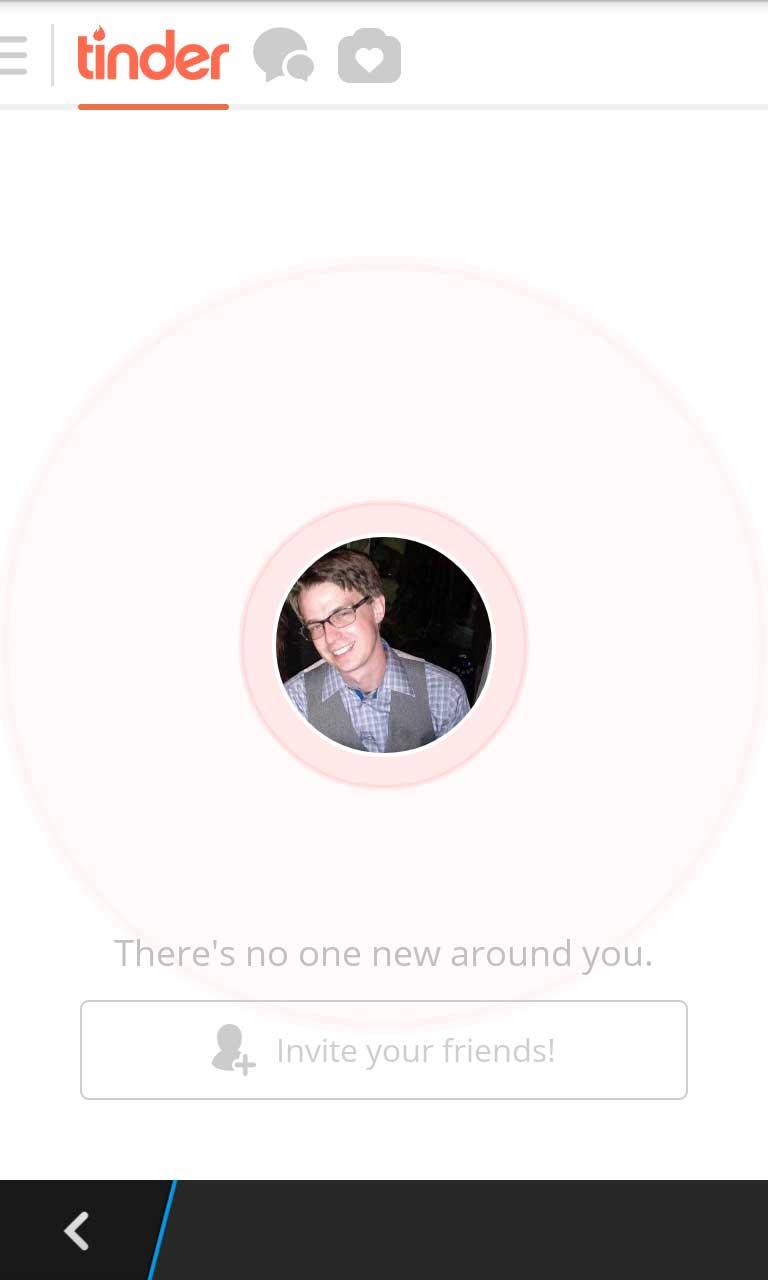 Tinder no one new around you