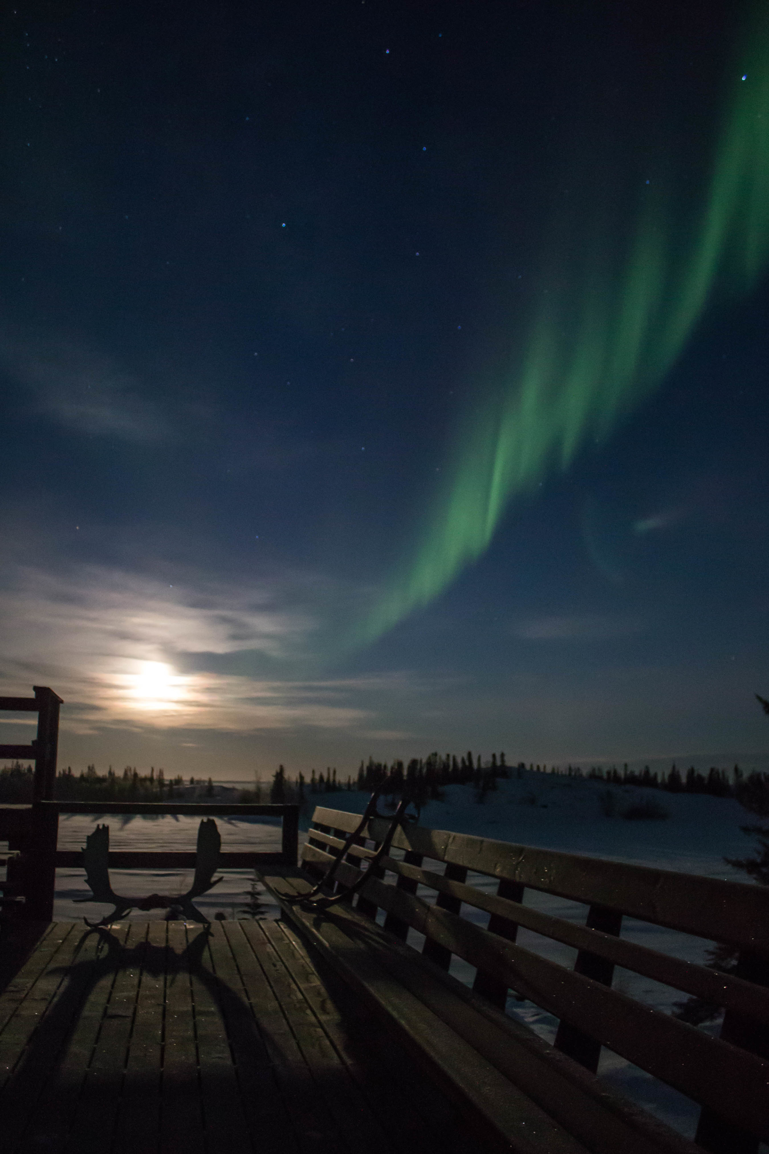 Northern lights viewing with Yellowknife Outdoor Adventures.