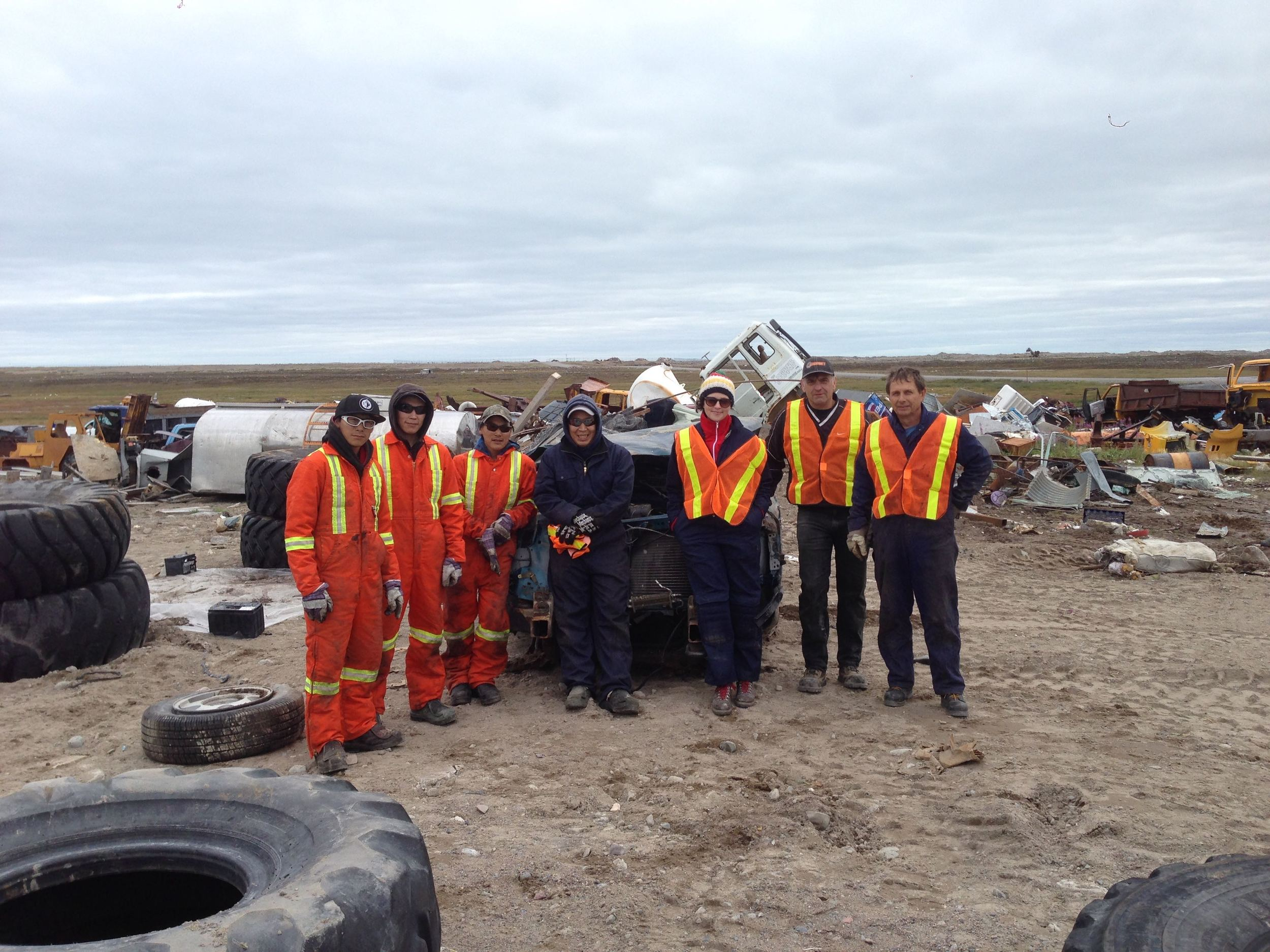 Arviat team photo. Photo courtesy of Tundra Take-Back.