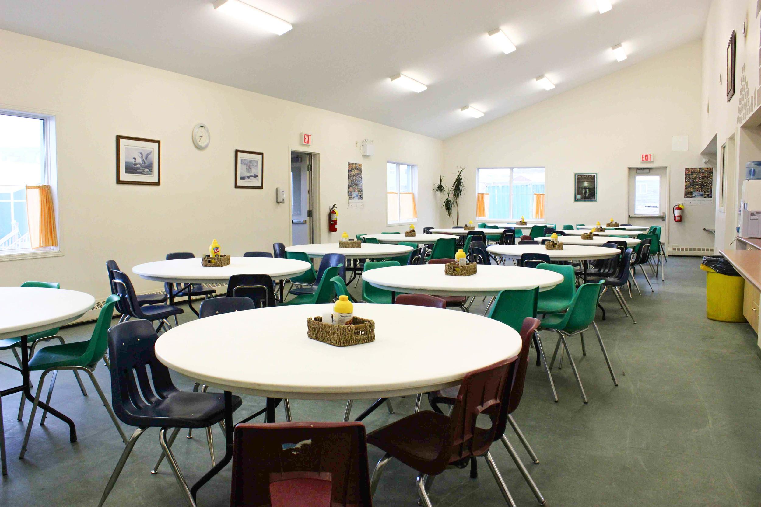The Qayuqtuvik Society's 90-person dining room. Photo by Sarah Brandvold.