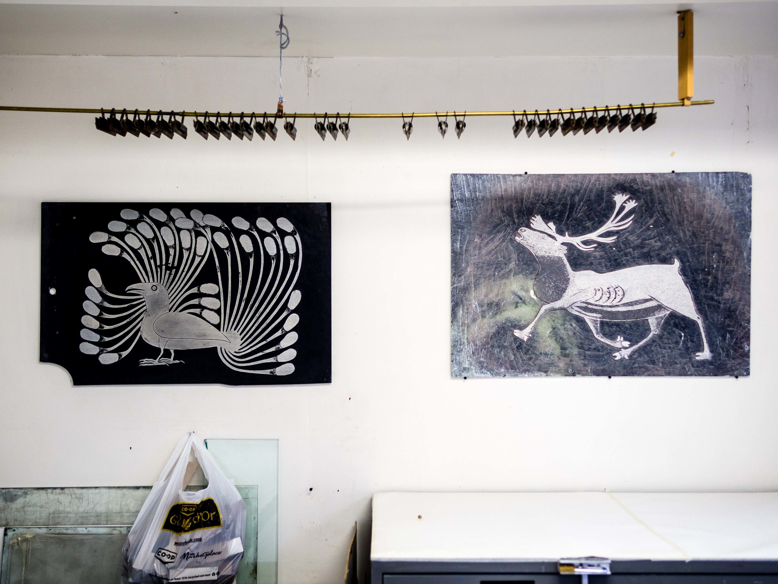 Plates from previous prints at the Dorset Fine Arts studio.
