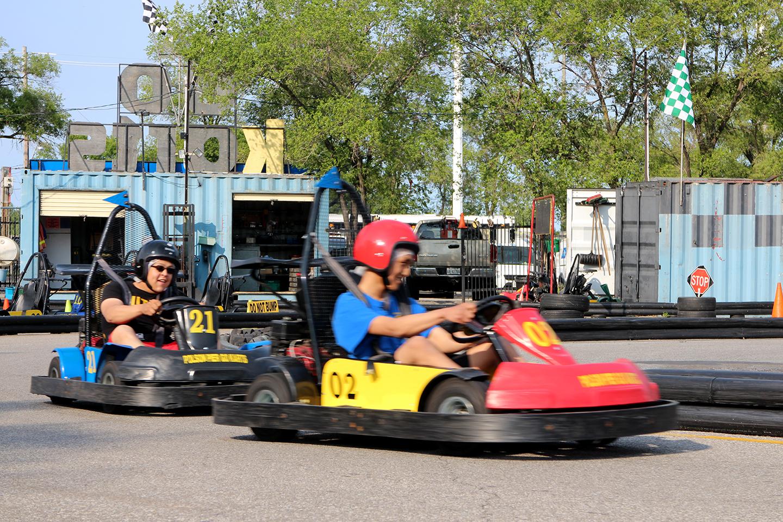 Go karting in Toronto, Cherry Beach. Photo by Alexa Hatanaka