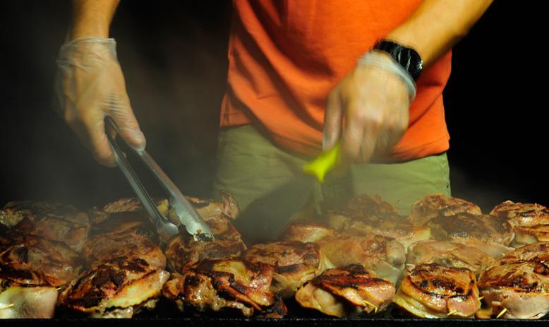 Australia_WA_Kimberley_Mitchell Plateau_Cooking steaks on a BBQ at the Wilderness Lodge_APT_Plateau90_LLR.jpg