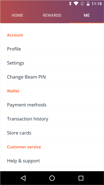 """The Wallet items are have improved navigation labels under and has moved to the """"Wallet"""" area in the""""Me"""" tab."""