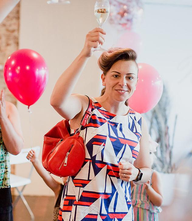 Nina celebrating the launch of Beam Sydney. -