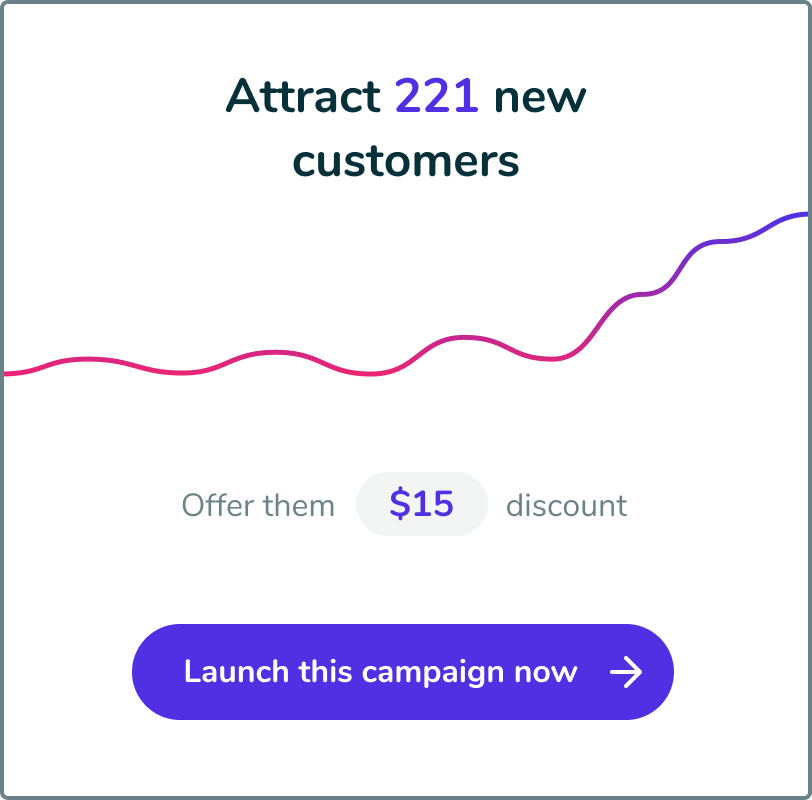 Step 1 - Select a marketing campaign and define your budget